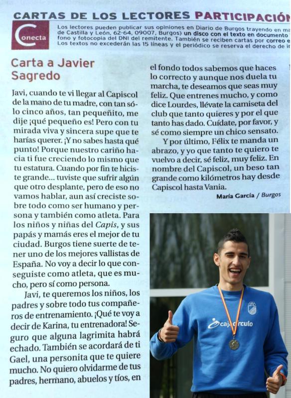 Carta a Javier Sagredo