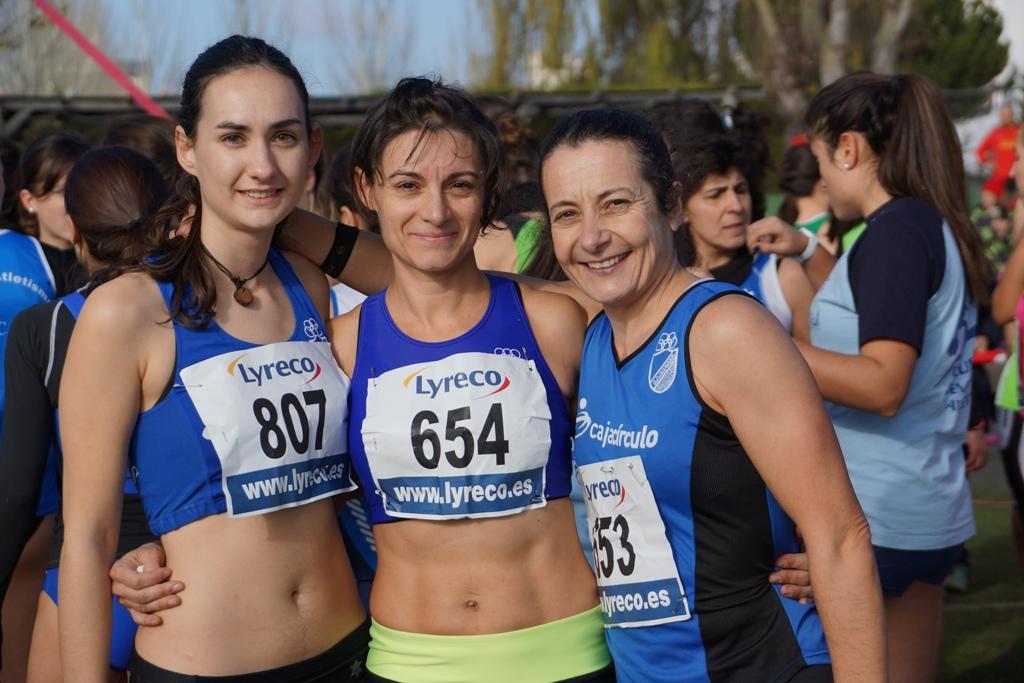 Imagenes Baños Femeninos:De izda a dcha, Marta Calzada , Soraya Cámara y Esther Molinero