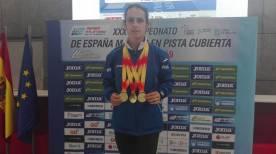 Elisa Hernandez y sus 3 oros