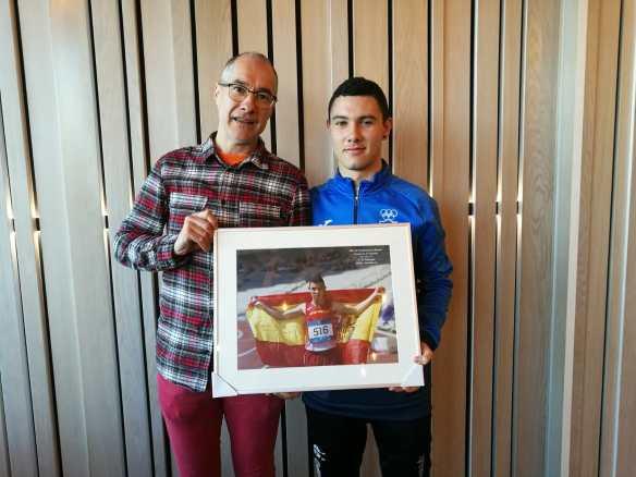 Roberto Calzada (Entrenador) con David Carranza